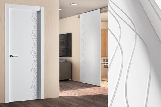 Puertas lacadas de madera cl sicas minimalistas Puertas de madera interiores minimalistas