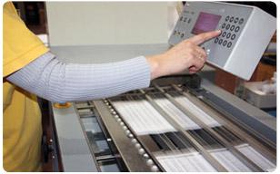 Manipulado postal - detalle maquinaria