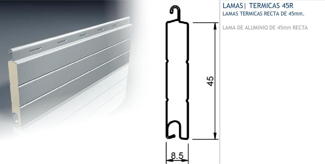Persiana enrollable aluminio termico persianas parasole - Lamas persianas aluminio ...