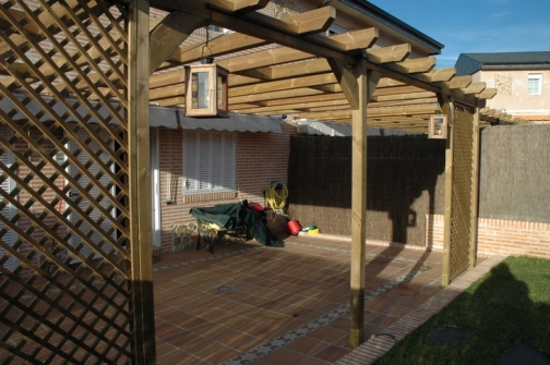 12 toldo pergola madera persianas parasole - Toldo de madera ...