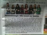 Nuestros alumnos en la prensa alemana