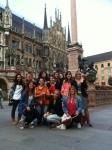 Todo el grupo en Marienplatz