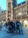 Un clásico de este proyecto: foto de grupo en MarienPlatz