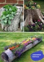 Jardineras de troncos