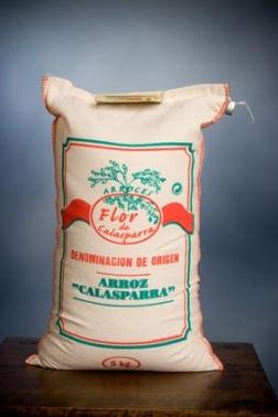 Arroz Flor de Calasparra D.O saco tela 1 kg