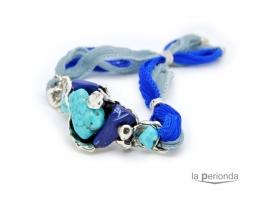 Pulsera de seda BLUE