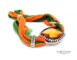 Pulsera de seda ORANGE