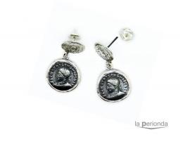 Pendientes doble moneda ORO / PLATA / BRONCE