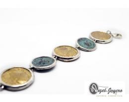 Pulsera de monedas romanas