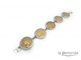 pulsera plata de monedas Faustina I