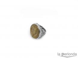 Sortija de plata Moneda Faustina II