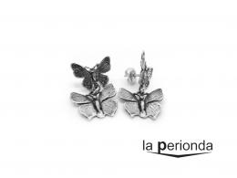 Pendientes doble mariposa