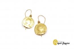 Pendientes Moneda de Oro