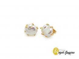 Pendientes Garras de Oro con Perla