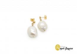 Pendientes Oro Perla barroca