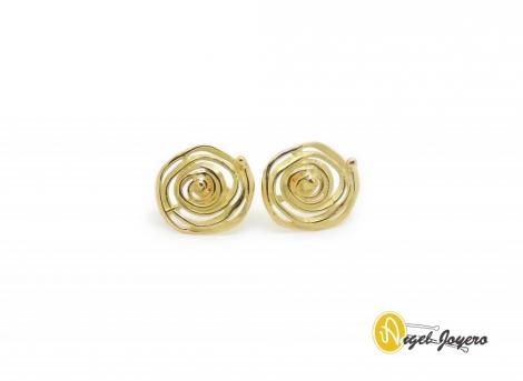 Pendientes Oro Espiral