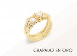 piezas de diseño chapadas en oro