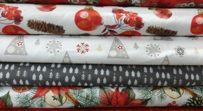 patchwork digital algodón Navidad