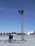 Caída de Cable de Alta Tensión con la Nevada