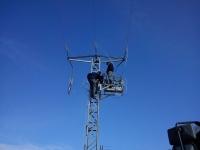 Instalación de Interruptor Tele-mandado en Alta Tensión