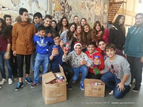 Donació del recapte d'aliments a la Fundació La Vinya
