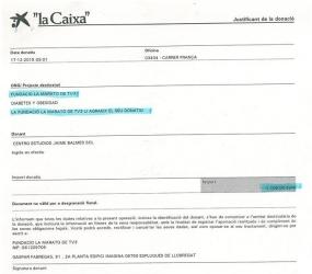 La Marató de TV3 2015: 1.100€ !