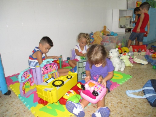 Primers dies dels nens de P3 al Balmes