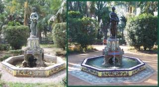 Restauración de la cerámica del Parque de Málaga