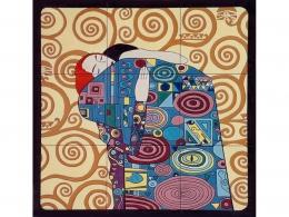 mural,ceramica,azulejo,pintado,mano,klimt