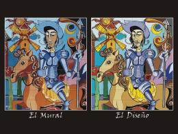 mural,ceramico,cuerda,seca,quijote,molinos,azulejo