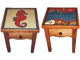 mesa,ceramica,azulejo,pintado,mano,cuerda,seca