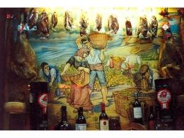 "Mural cerámico de azulejos ""La Vendimia"""