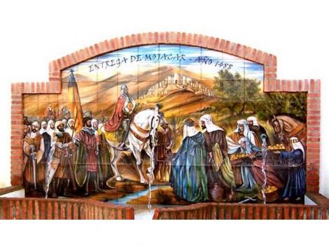 Mural cerámico decorativo de azulejos entrega de Mojácar