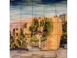 Mural cerámico decorativo de azulejos Málaga