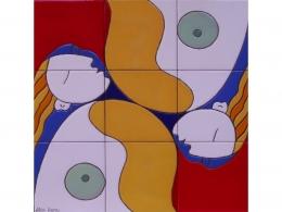 Mural cerámico decorativo de azulejos Museo Picasso