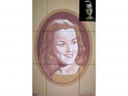Mural azulejos de cerámica con retrato