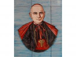 Mural azulejos de cerámica con retrato Herrera Oria