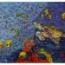 Mural azulejos de cerámica con tortuga