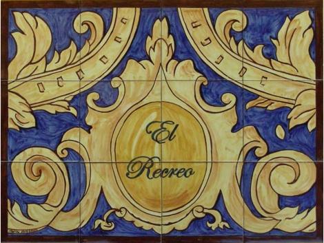 Rótulo de azulejos de cerámica
