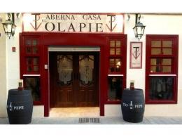 Rótulo de azulejos de cerámica franquicia taberna Volapié