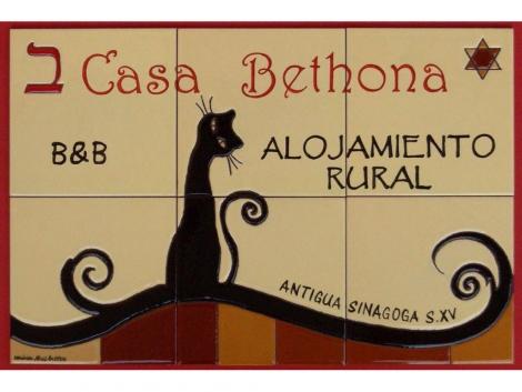 Rótulo de azulejos de cerámica original