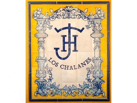 Rótulo de azulejos de cerámica clásico