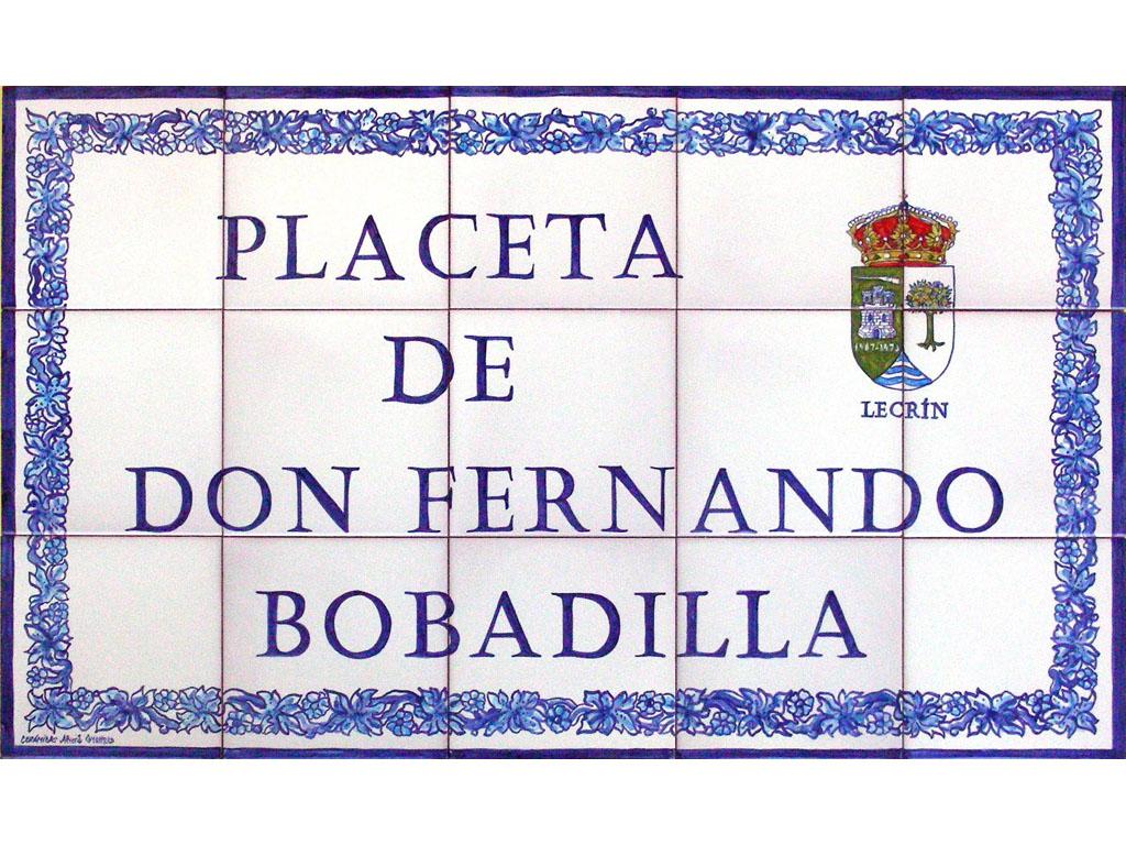 Placeta de Don Fernando Bobadilla