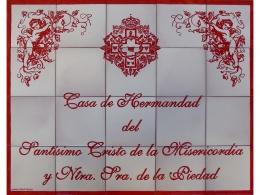 Rótulo conmemorativo de azulejos de cerámica