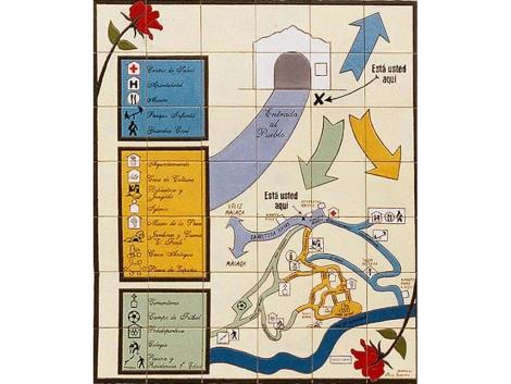 Mapa Plano de azulejos de cerámica