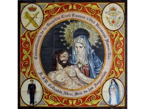 Mural de azulejos de cerámica Cofradía Nuestra Sra. de las Angustias