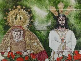 Mural de azulejos de cerámica Cautivo y Trinidad