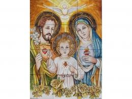 Mural de azulejos de cerámica Sagrada Familia