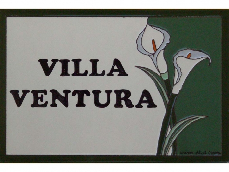 Rotulación en placa de cerámica para casa personalizada