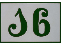 Placa de cerámica personalizada número